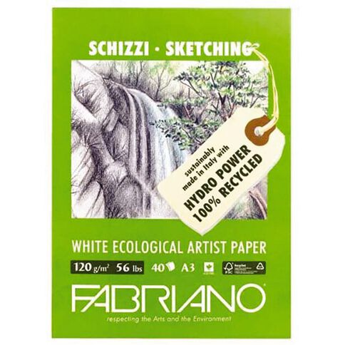 Fabriano Ecological Sketch Pad 120GSM 40 Sheets A3