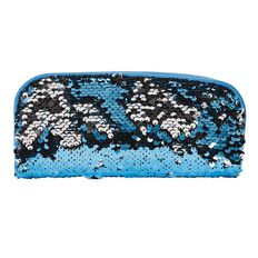 Impact Pencil Case Tube Sequins Aqua