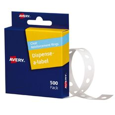 Avery Reinforcement Ring Labels 13mm diameter Clear 500 Labels