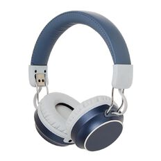 New Craft Wireless Headphones Metallic with Carry Pouch Blue