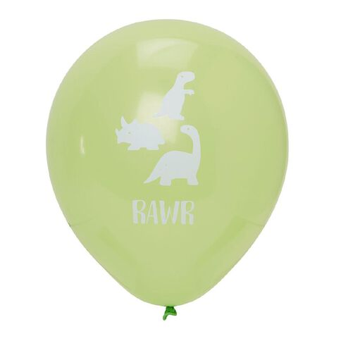 Party Inc Printed Balloons Rawr 25cm 12 Pack