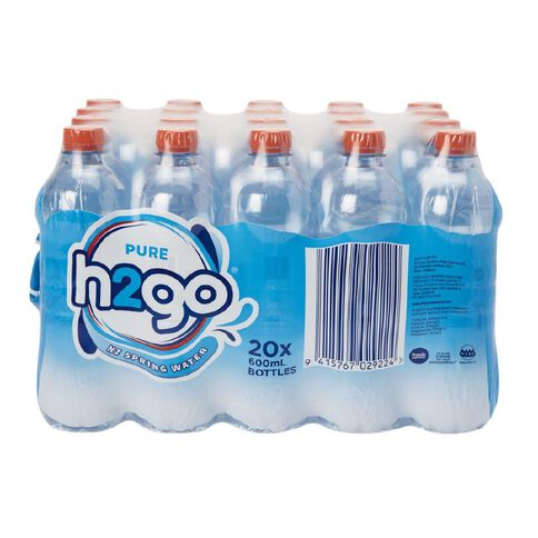 H2go NZ Spring Water 20x 600ml