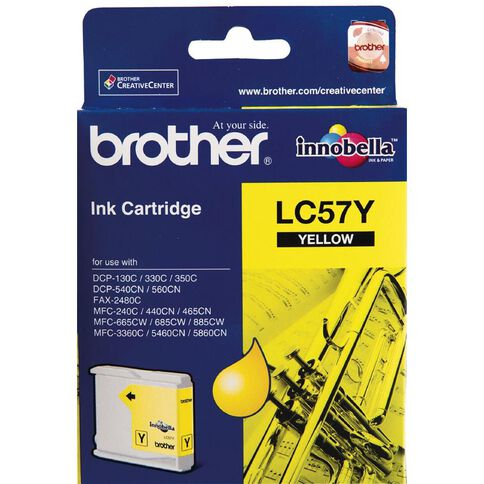 Brother Ink LC57 Yellow (400 Pages)