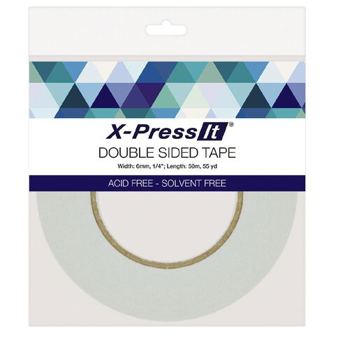 X-Press It Double Sided Tissue Tape 6mm x 50m