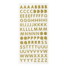 Uniti Glitter Foam Alphabet Stickers Gold