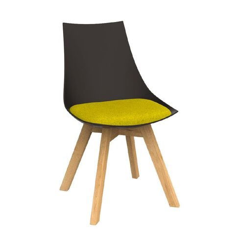 Luna Black Bumblebee Yellow Oak Base Chair Yellow