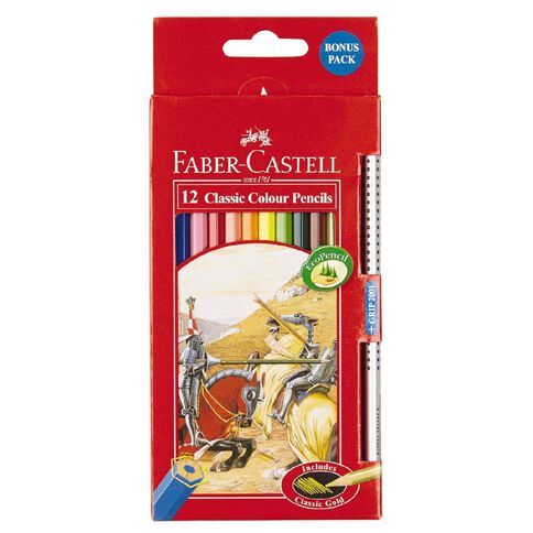Faber-Castell Classic Colour Pencils 12 Pack