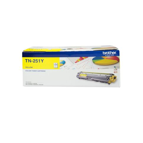 Brother Toner TN251 Yellow (1400 Pages)
