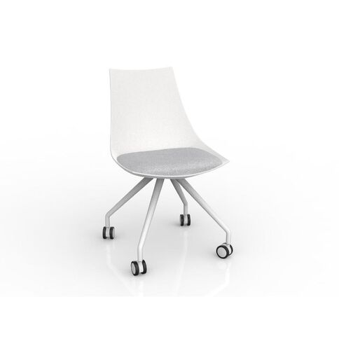 Luna White Ash Chair Grey