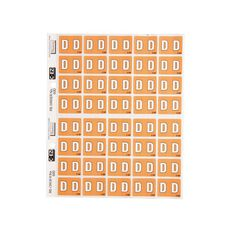 Filecorp Coloured Labels D Brown