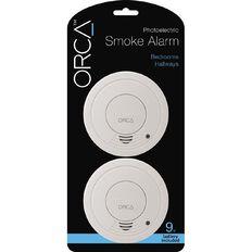 Orca Photoelectric Bedroom/Hallway Smoke Alarm with Hush 2 Pack