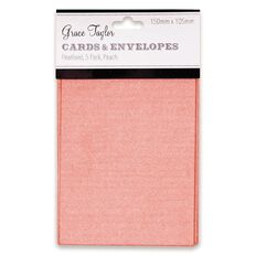 Grace Taylor Pearlescent Cards with Envelopes 5 Pack Peach