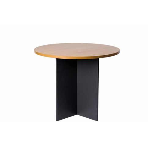 Firstline 900 Round Meeting Table Beech/Ironstone