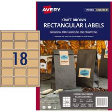 Avery Rectangle Labels Kraft Brown 270 Labels