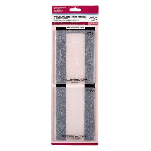 Craft Concepts Embossing Folder Perfect Pairs Assorted