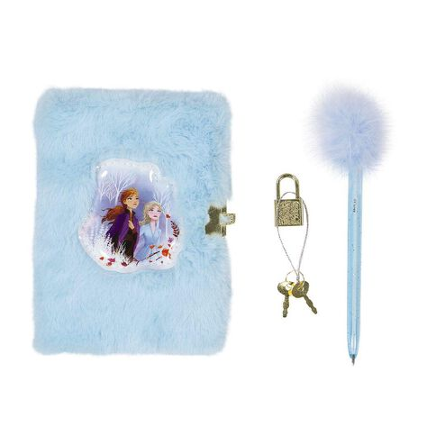 Frozen 2 Fluffy Notebook Diary and Pen