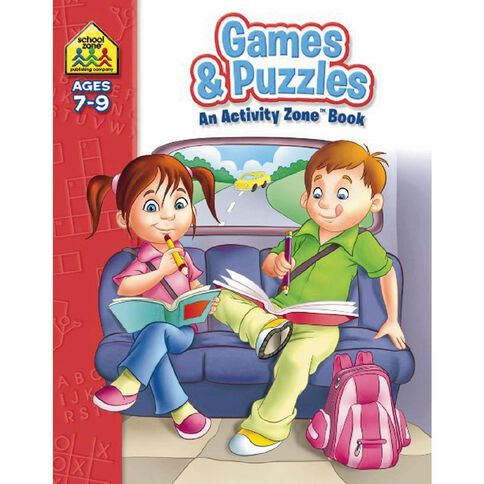 Activity Zone Workbook Games & Puzzles (7-9) by Schoolzone