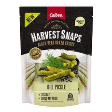 Calbee Harvest Snaps Black Bean Crisps Dill Pickle 85g