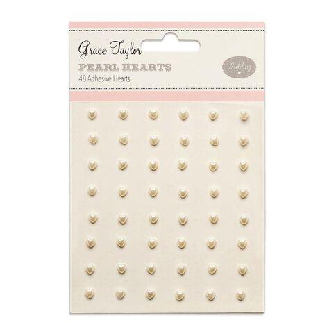 Grace Taylor Wedding Mini Heart Pearls 48 Pack