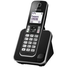 Panasonic KX-TGD310NZB Single Cordless Handset Black Black