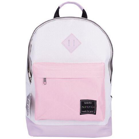 Grey & Purple Classic Backpack