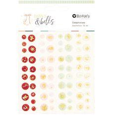 Rosie's Studio Bows & Bells Gemstones 72 Pieces