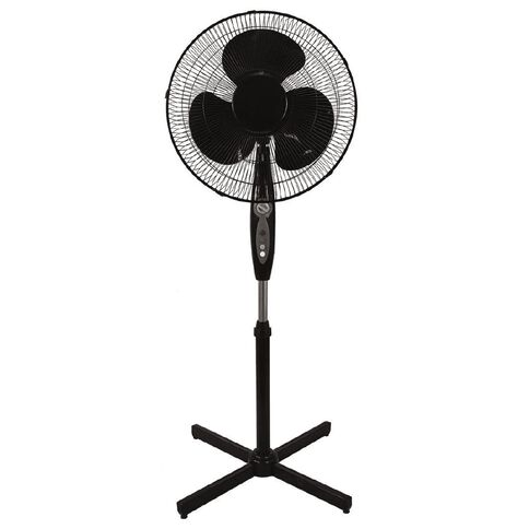 Living & Co Pedestal Fan with Timer 40cm Black