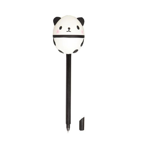 Kookie Novelty20 Squishy Panda Pen White/Black
