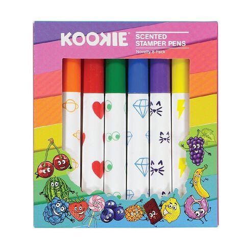 Kookie Novelty Pens Stamper Scented 8 Pack Multi-Coloured