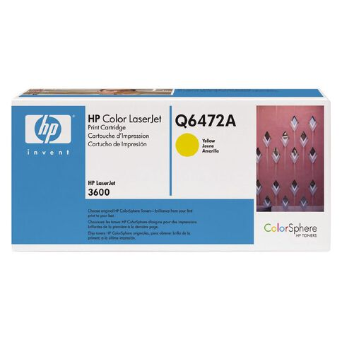 HP Toner Q6472A Yellow (4000 Pages)