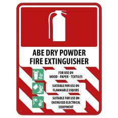 Impact ABE Dry Powder Extinguisher Sign Large 610mm x 460mm