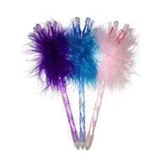 Novelty Pen Fluffy Crowns Assorted