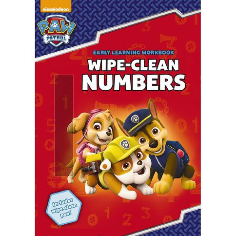 Paw Patrol Wipe-Clean Numbers