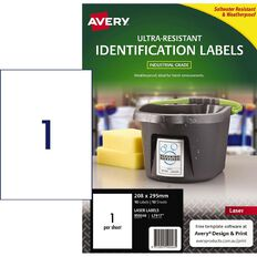 Avery Ultra-Resistant Outdoor Labels White 10 Labels