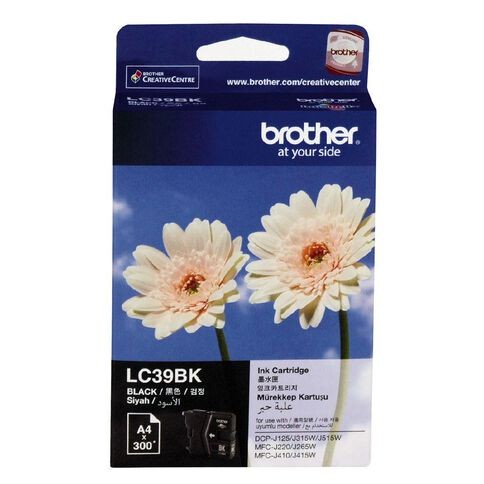 Brother Ink LC39 Black (300 Pages)