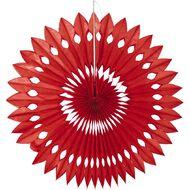 Artwrap Hanging Fan Red 40cm