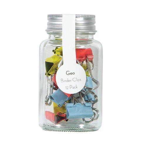 Uniti Geo Binder Clips In A Jar Multi-Coloured