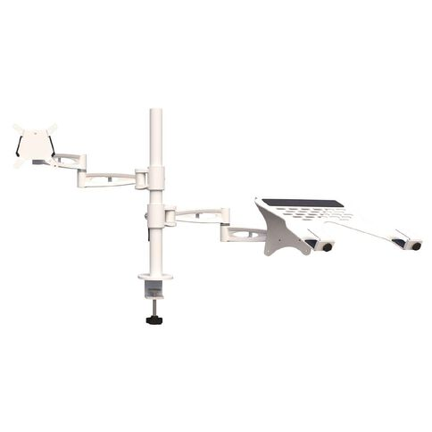 Accent Quick Ship Laptop Monitor Arm White