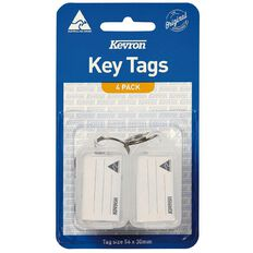 Kevron ID5 Key Tag Clear 4 Pack