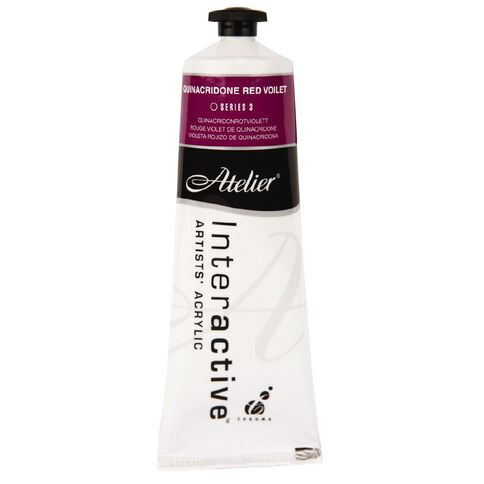 Atelier S3 Quinacridone 80ml  Red Violet Red