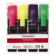 Necessities Brand Highlighter Short Mixed Assortment 4 Pack