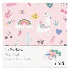 Uniti No Probllama Paper Pad 6in x 6in