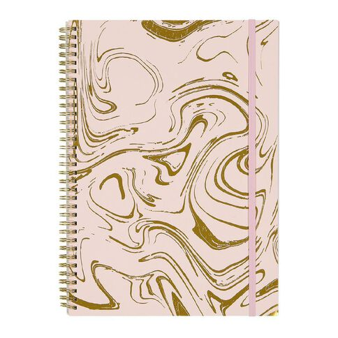 Uniti F&F Spiral Project Notebook Pink With Gold Foil A4