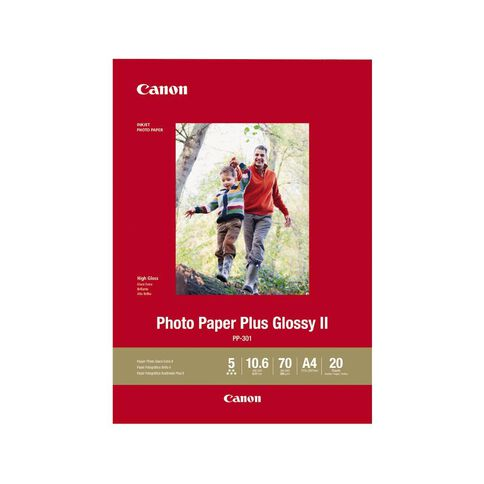 Canon Photo Paper Glossy Photo II 265gsm 20 Pack A4