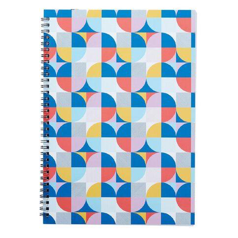 Uniti Geo Notebook Spiral Softcover Multi-Coloured A4