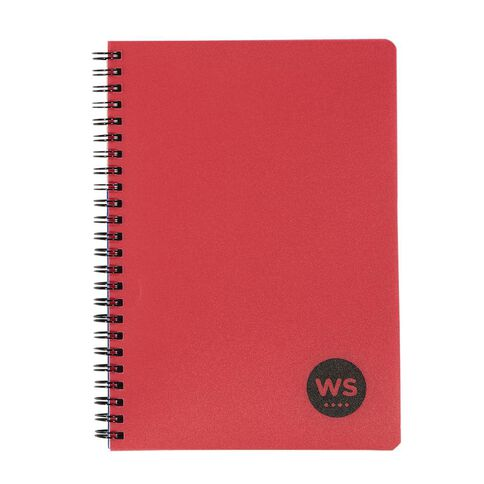 WS Notebook PP Wiro 200 Pages Soft Cover Red A5
