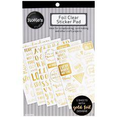 Rosie's Studio Foil Clear Sticker Pad 5 Page