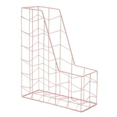 Uniti Wire Magazine Holder Pink