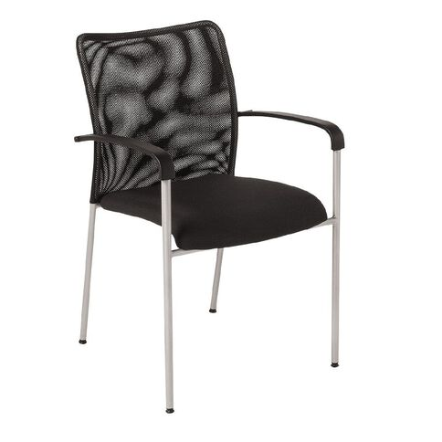 Eden Run Mesh Back Meeting Chair with Arms Black