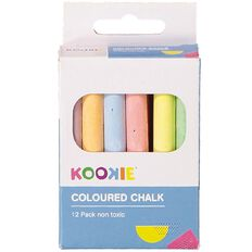 Kookie Chalk Coloured 12 Pack Multi-Coloured 12 Pack